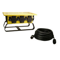 Coleman Cable 01970 50a Power Distribution Spider Box, 50' 6/3-8/1 Power Cord on Sale
