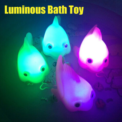 LED Flashing Light rubber floating Duck Bath Toy Kids Tub Shower Toy Funny