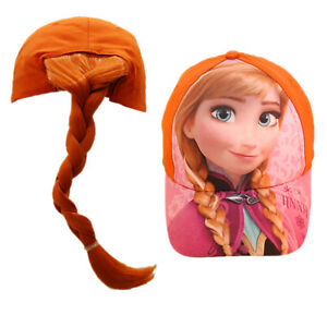 Details about Frozen Anna   Elsa Baseball Cap with Fake Hair Ponytail -  Great fun in the sun! 09a7eac0d1b
