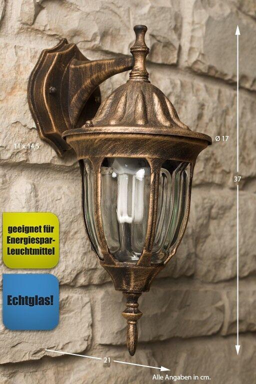 Illuminazione da giardino Classico Lampada da parete Alluminio Applique NEW 8093