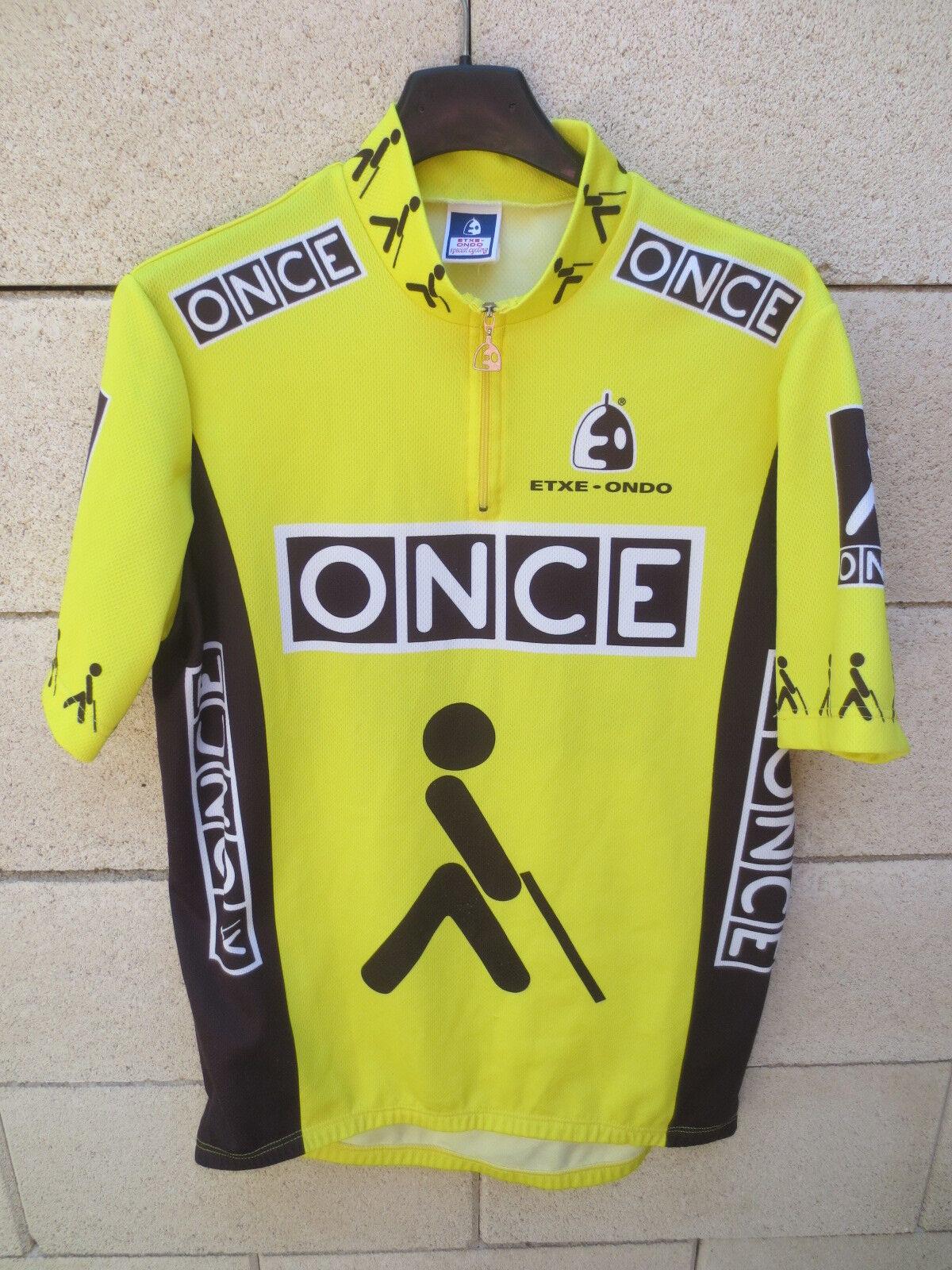 VINTAGE Maillot cycliste ONCE Tour de France 97 camiseta shirt JALABERT XXL