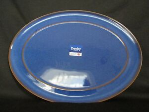 Denby-IMPERIAL-BLUE-Oval-Platter-NEW