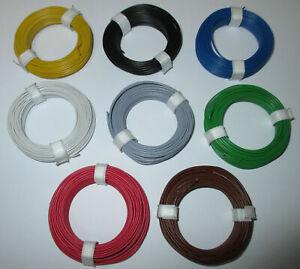 12-9ct-m-Kupfer-Schaltdraht-0-5mm-Ringe-je-10-Meter-gt-Auswahl