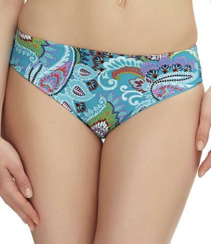 Fantasie Viana Bikini Brief Size XS 8 10 L 14 16 Mid Rise Blue Paisley 6270