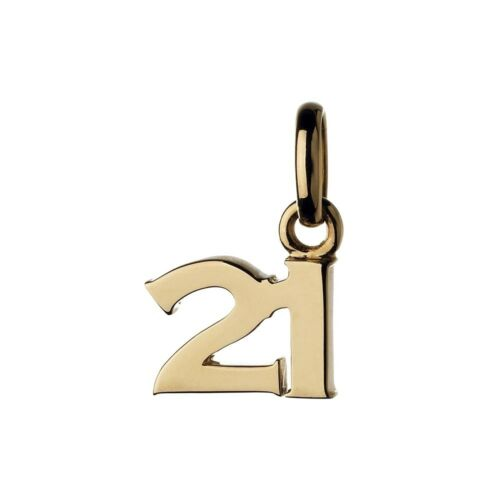 London Gold 21st Birthday Charm attaches to links of bracelet or necklace