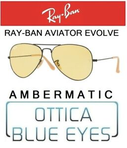 3c0959bc4da La imagen se está cargando RAYBAN-RB-3025-90664A-Aviator-Evolve-ambermatic- Sunglasses-