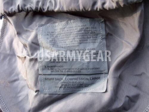 ACU Sleeping Bag Compression Sack Bag Tennier Ind US Army Military Foliage Green