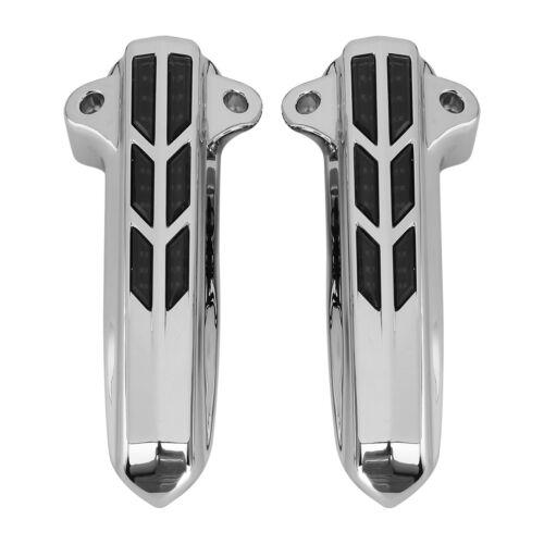 Front LED Light Lower Leg Fork Cover for Harley Davidson 14-18 FLHT FLHX FLHR