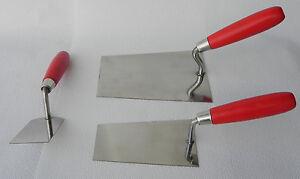 Maurerkellen-Set-3tlg-Rostfrei-2-Stukkateurkellen-1-Stukateurspachtel-60-mm