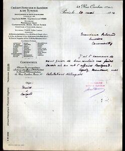 PARIS-I-BANQUE-034-CREDIT-FONCIER-d-039-ALGERIE-amp-de-TUNISIE-034-en-1910