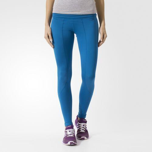 Brandneu $ 90 Adidas Damen Climaheat Tight Unity Blau Matt Silber S94997