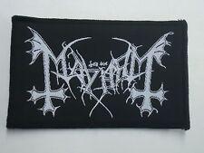 MAYHEM BLACK METAL WOVEN PATCH