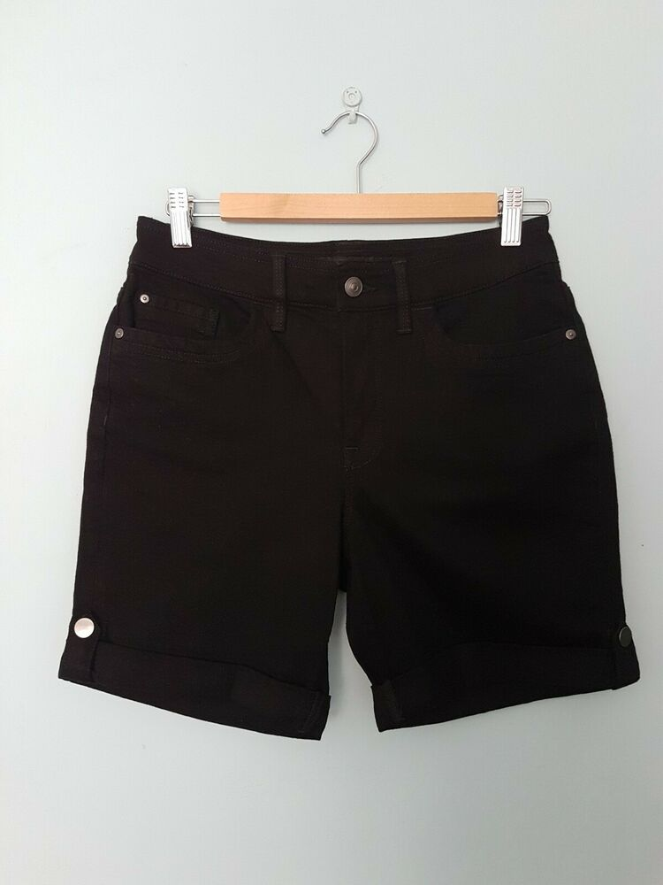 Bnwt Noir Dkny Jean Short Taille 10 Free P&p Holiday Winter Sun Collants & Bottes