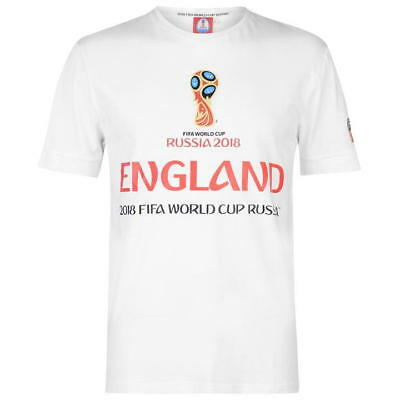 Official FIFA World Cup Russia 2018 England Men/'s Polyester T-Shirt