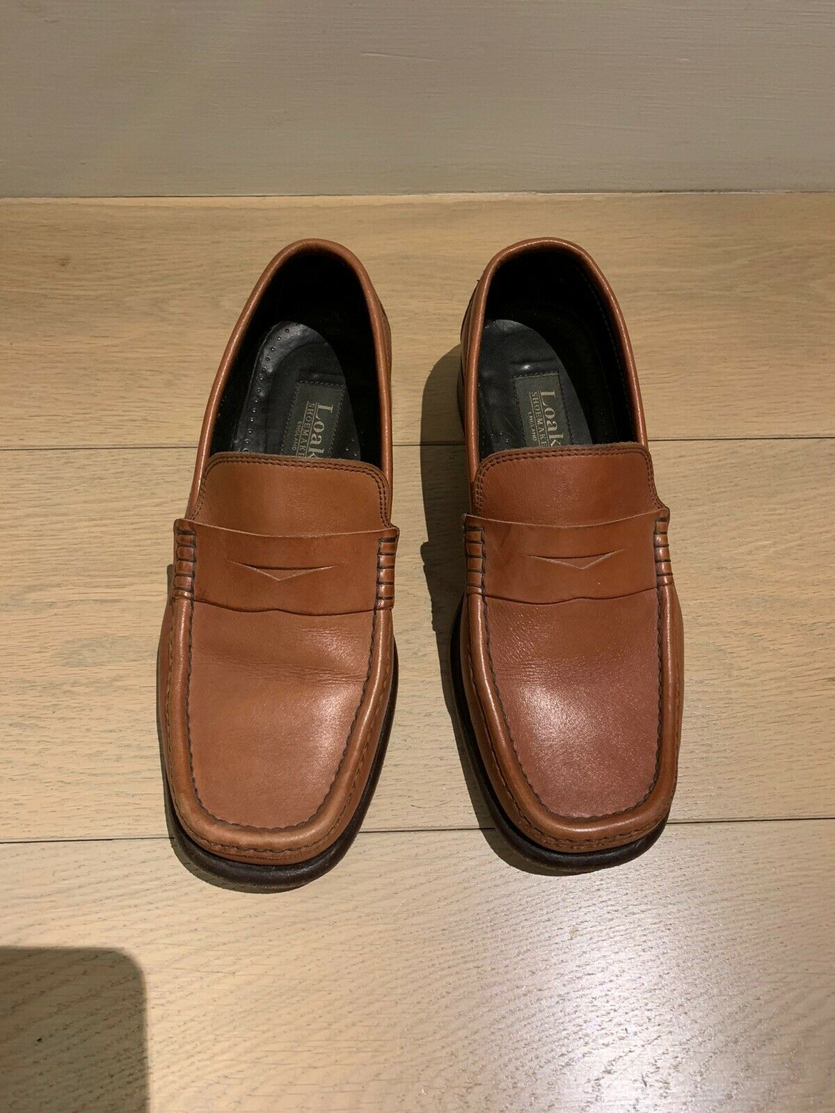 Loake Tan Loafers Size 6.5