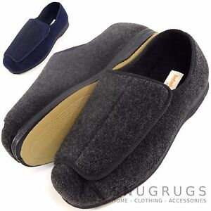 7f0f32a07f73 Image is loading Mens-Orthopedic-EEE-Wide-Fit-Adjustable-Slipper-Boot-