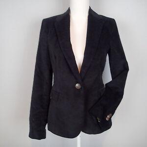 ZARA Negro Terciopelo Blazer Chaqueta Talla M h7 | eBay