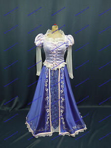 Disney Satin Embroidery In 14 8 Princess 16 12 Costume 6 Size Rapunzel Adult 10 r76qwaOr