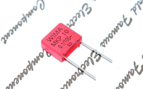 10pcs 100V 5/% p:10mm Capacitor 0,1µF WIMA MKP10 0.1uF MKP1D031003G00JSP1