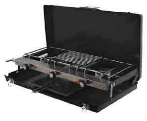 Image Is Loading Portable Double Gas Cooker Hob With Grill For