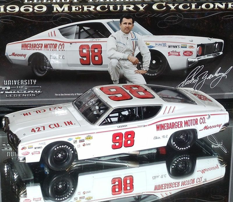 1969 LEEROY YARBROUGH MERCURY CYCLONE 1 24 SIGNED AUTOGRAPHED NEW