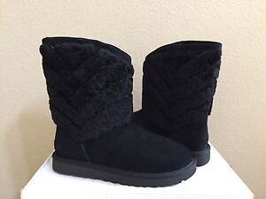 641246a2378 Details about UGG TANIA BLACK SHEARLING CUFF BOOTS US 11 / EU 42 / UK 9.5 -  NIB