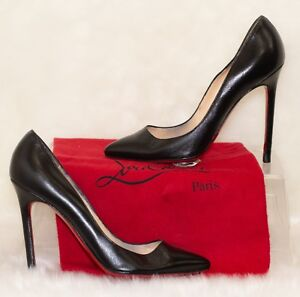 f844d4c49f62 Image is loading Christian-Louboutin-Pigalle-Black-Leather-Pumps-EU-37-
