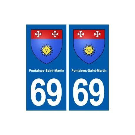 69 Fontaines-Saint-Martin blason autocollant plaque stickers ville droits
