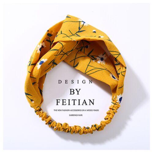 Mustard Colour Twist Knot Fabric Headbands Hairbands Elasticated Summer Beach