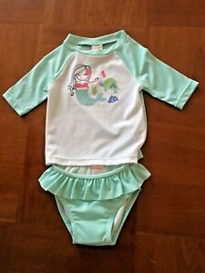 1f8178565109 GYMBOREE baby Girl s 0-3mo Little Splash Mermaid 2pc UPF sunscreen ...