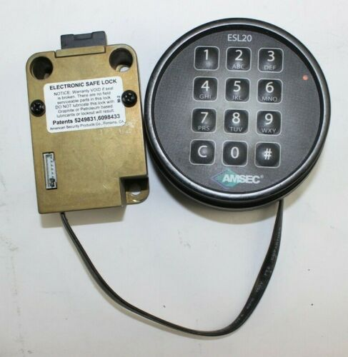 Black American Security AMSEC ESL20 Electronic Safe Lock w// Combination Keypad