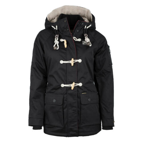 Short Winter Black Women's Coat Dufflecoat Parka Ibriza Jacket Khujo qZ8UPU
