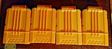 Lot of 4 Nerf Soft Dart Gun 6 Round Magazine Clips - Solid Yellow - Genuine