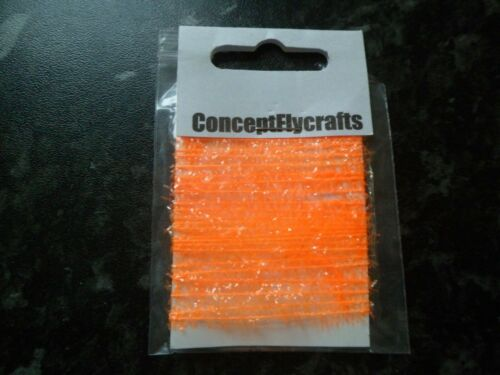 newage wets and crunchers 2 metre pack 5mm fluo orange fritz for mini lures