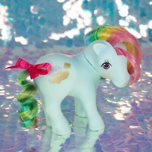 Vintage My Little Pony SUNLIGHT Aqua Sun Clouds Rainbow Hair G1 MLP BC054