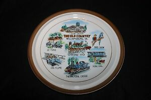 Vintage The Old Country Williamsburg, Va. Collector Plate, Monterrey Stoneware