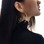 Gold-Big-Baby-Earrings-Fashion-Hip-Hop-Alloy-Letter-Lady-Hoop-Earrings-Jewelry thumbnail 2