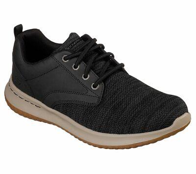 Homme Skechers Chaussure. DELSON Fonzo 65641BLK décontractée légère Confort Chaussure   eBay