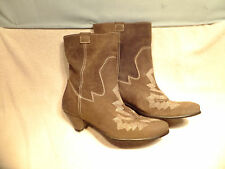 67 Sixty Seven - Shadowridge Brown Suede Leather Ankle Boots  EU 39  Quite Nice