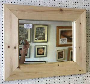 Buy Direct Large Chunky Unfinished Solid Pine Wall And Overmantle Mirrors Ebay