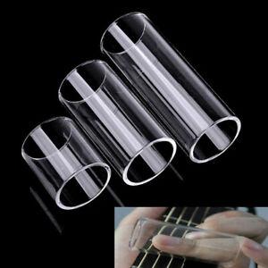 28 50 69mm guitar glass slippery stick glass slide transparent guitar finger p u ebay. Black Bedroom Furniture Sets. Home Design Ideas