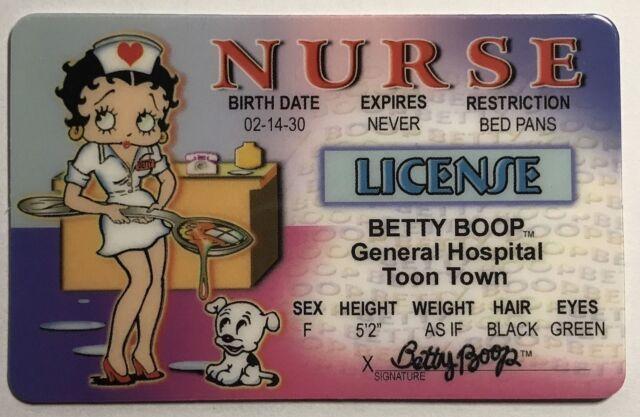 Signs 4 Fun Nbidn Betty Nurses Drivers License