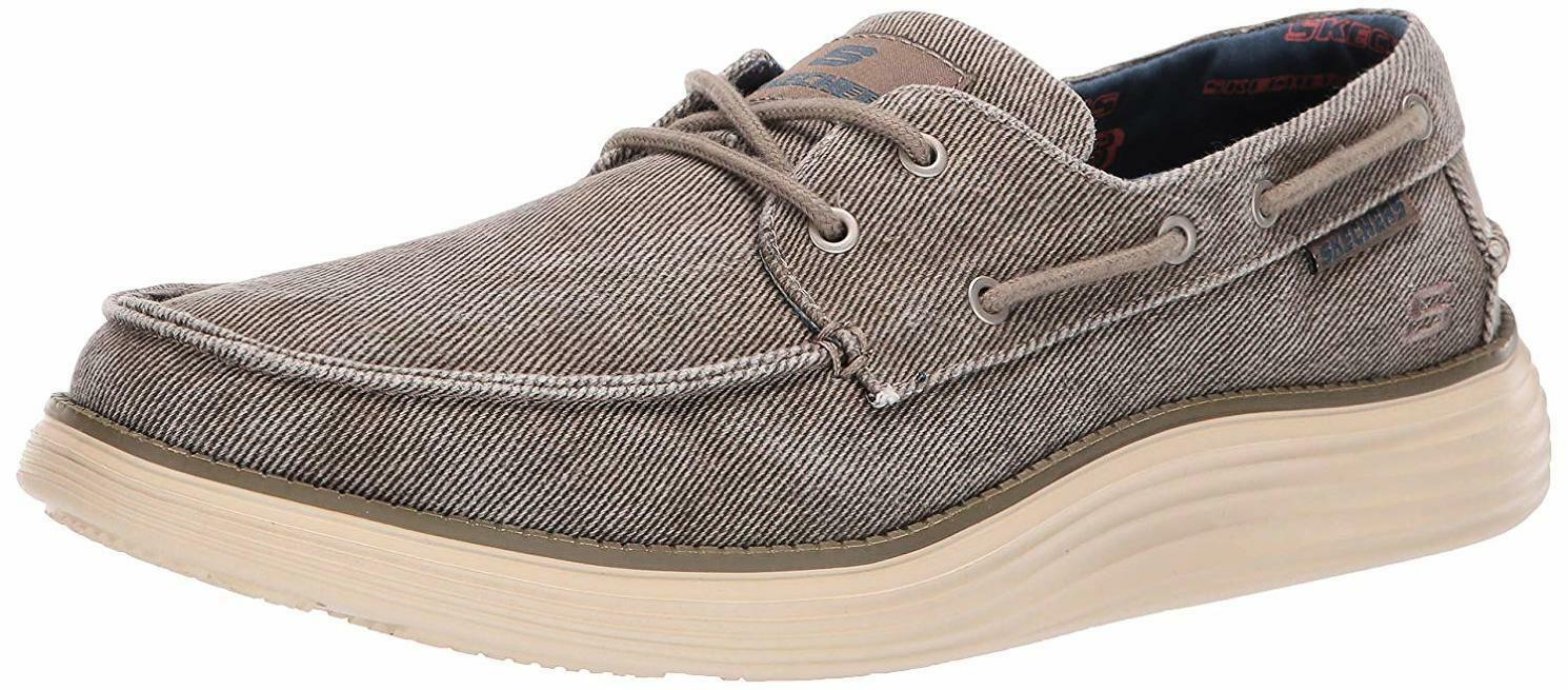 Skechers Men's Status 2.0-Lorano Moc Toe Canvas Deck shoes Oxford