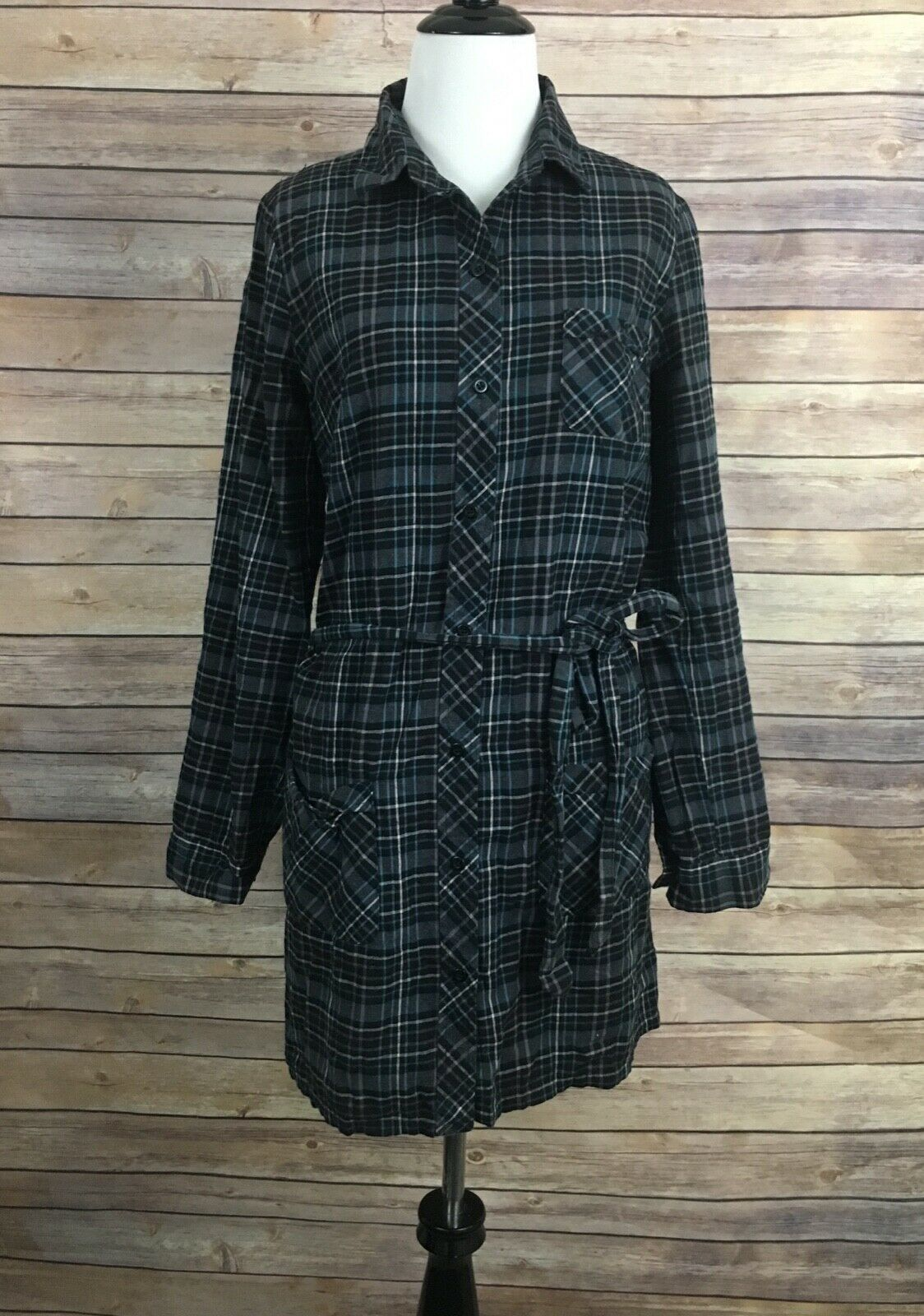 UO Cooperative Plaid Button Down Dress (Size  M)