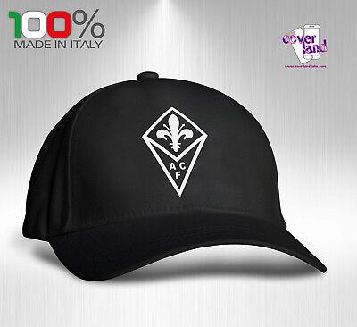Cappello Berretto Hat Cappellino Houston 5 pannelli NERO FIORENTINA