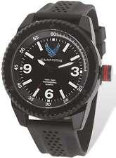 US Air Force Wrist Armor C20 Watch, Black/White Dial & Black Rubber Strap