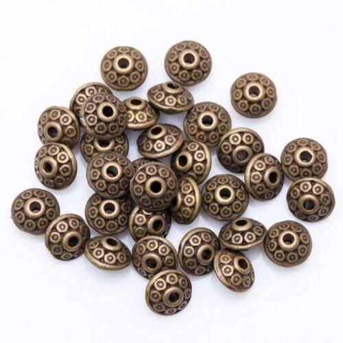 20//50//100x métal perles ronds-tibet Hippie Bijoux Bricolage spacer DIY