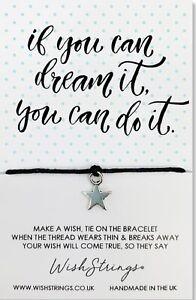 Wish Bracelet. Dream It. Handmade Gift For Friend, Daughter, Mother, Sister
