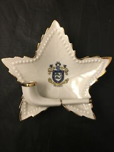 In-Deo-Fidemus-Brighton-Crested-China-Pipe-Star-Leaf-Ashtray