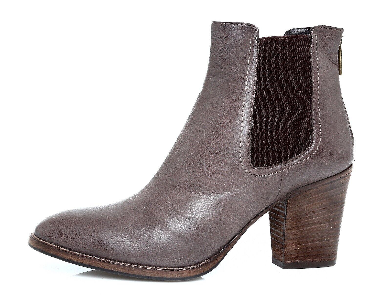 Aquatalia By Marvin K. Fabien Leather Women's Grey Booties Sz 10.5 4238 *